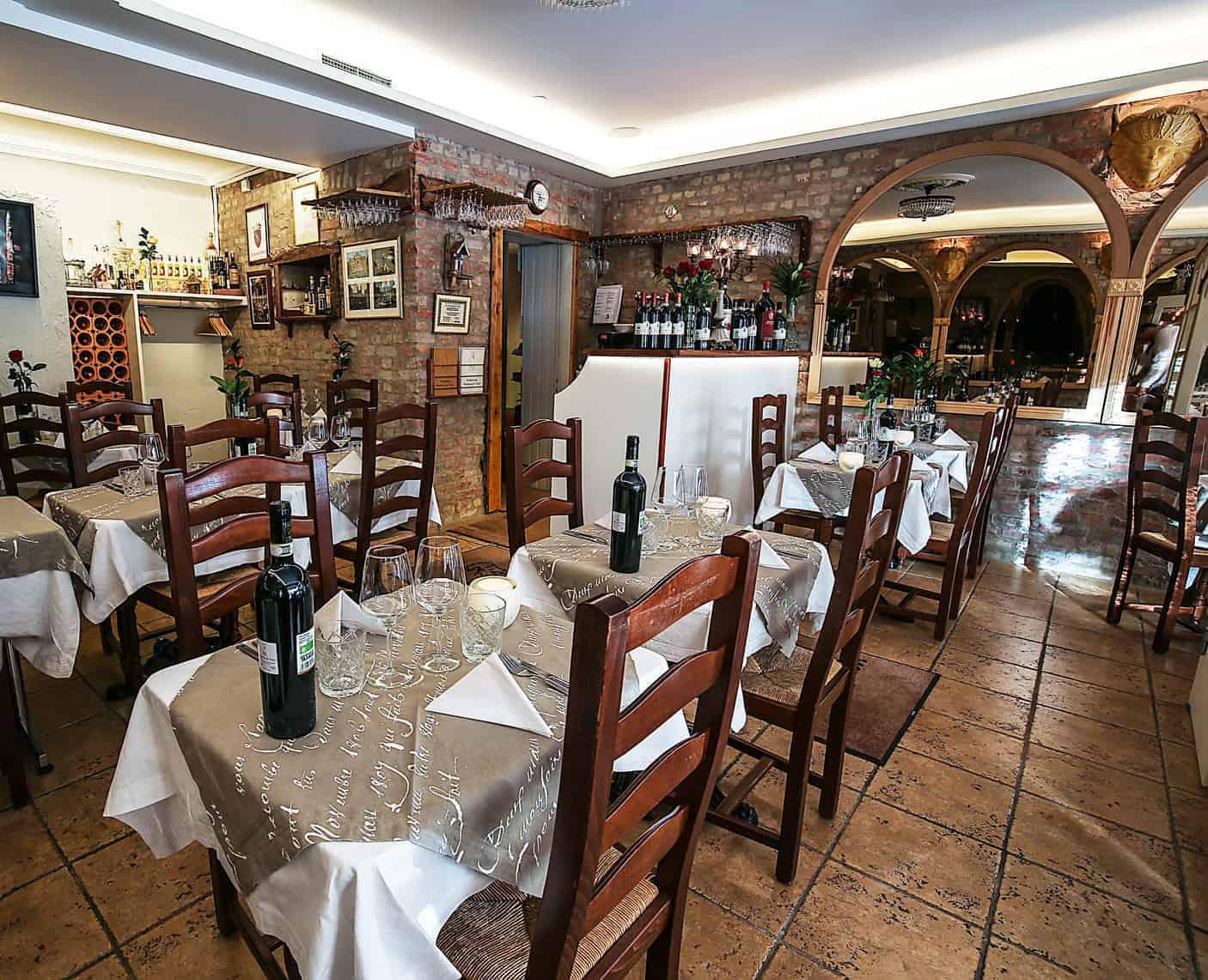 Insidan av italiensk restaurang i Göteborg