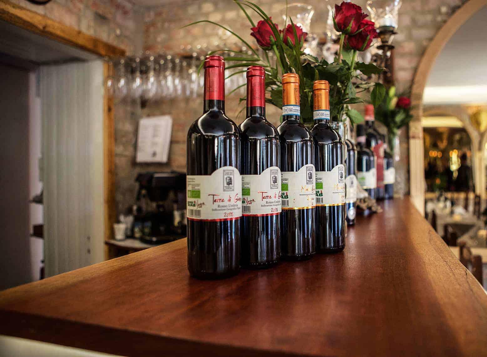 Italienska viner på restaurang i Göteborg