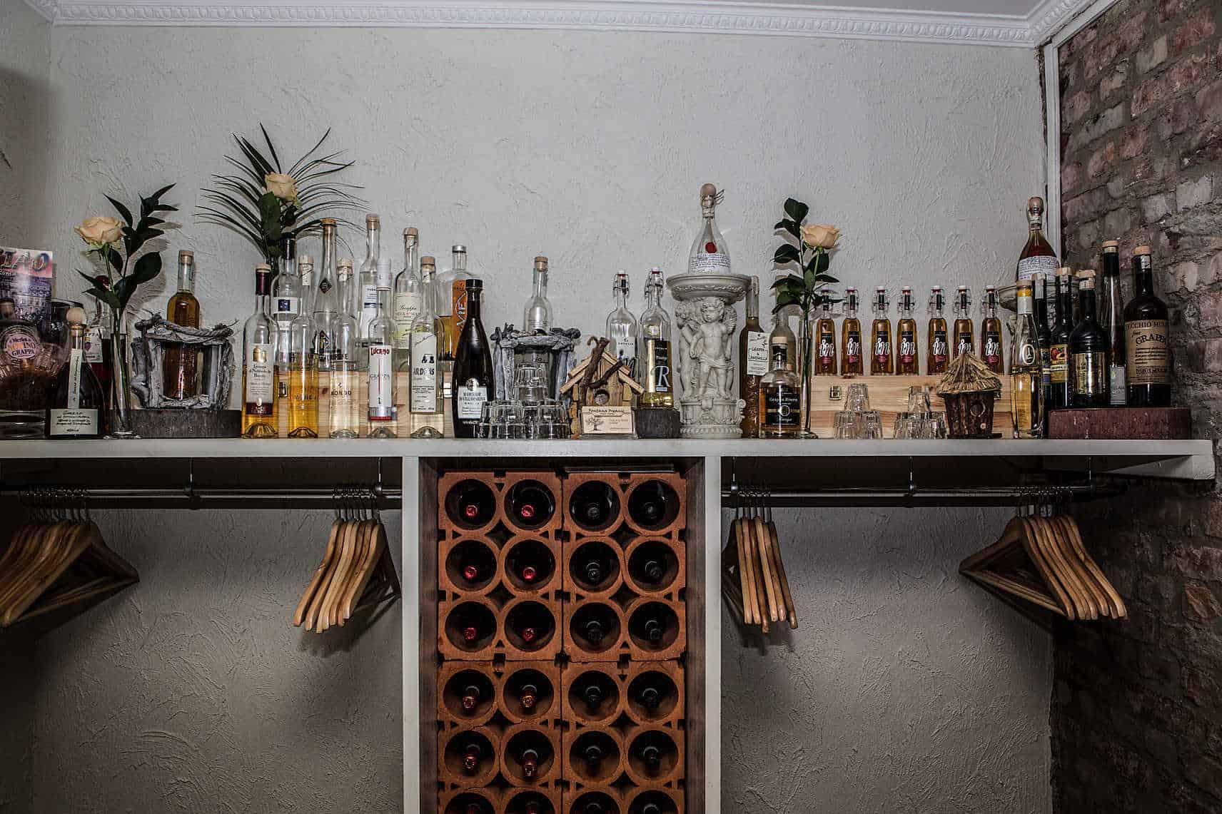 Dryckesutbud på restaurang i Göteborg